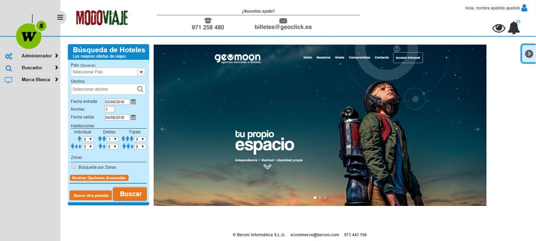 Presentación Geoclick Hoteles para agencias asociadas a Geomoon