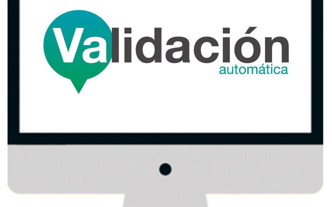 ¿No utilizas la validación automática?
