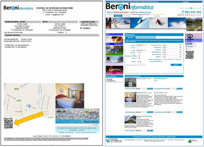 Códigos QR en aplicaciones de Beroni