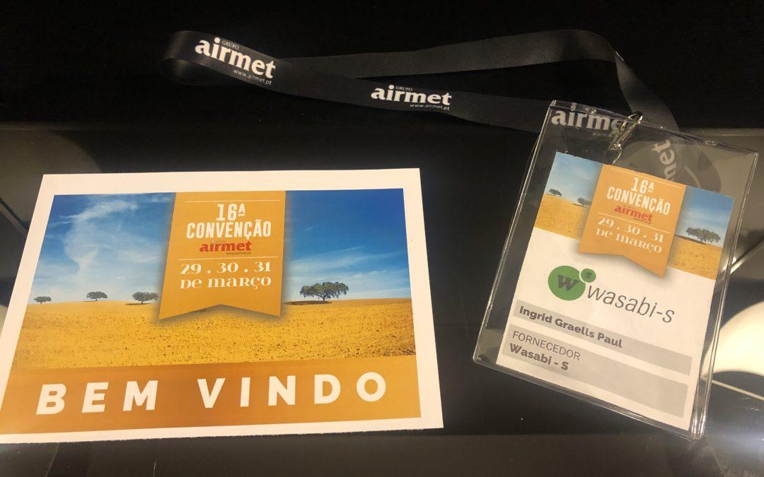 Por primera vez, presentes en la convención del Grupo Airmet Portugal.