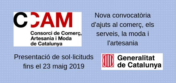 Para agencias de viajes en Catalunya: Subvenciones CCAM mayo 2019