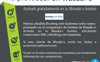 Booking.com, nou proveïdor a Wasabi-s