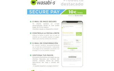 Te presentamos Secure Pay, la nueva herramienta de pago seguro que puedes incorporar a Wasabi-s