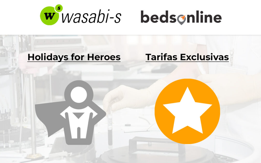 """Holidays for Heroes"" y Tarifas Exclusivas: Las novedades de Bedsonline displonibles en Wasabi-s"