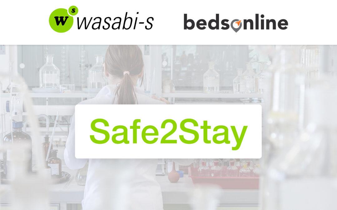 Safe2Stay: Identifica en Wasabi-s los hoteles de Bedsonline con estancia segura.